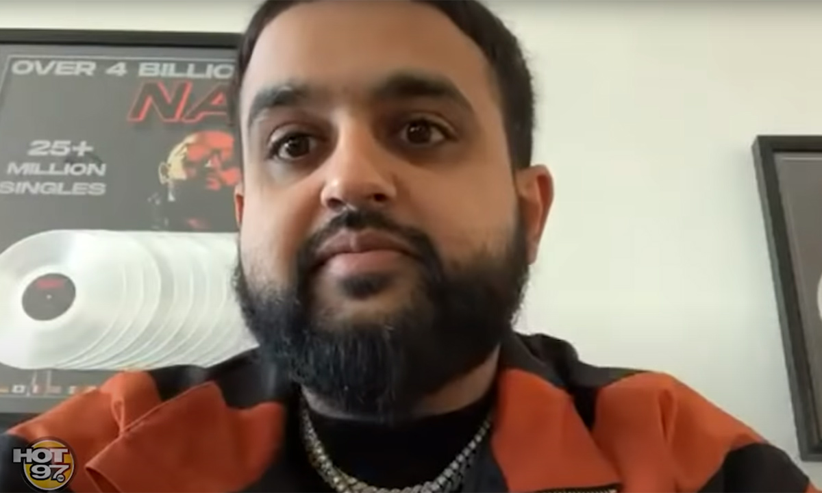 NAV on webcam with Hot 97 discussing Back to Back and other releases