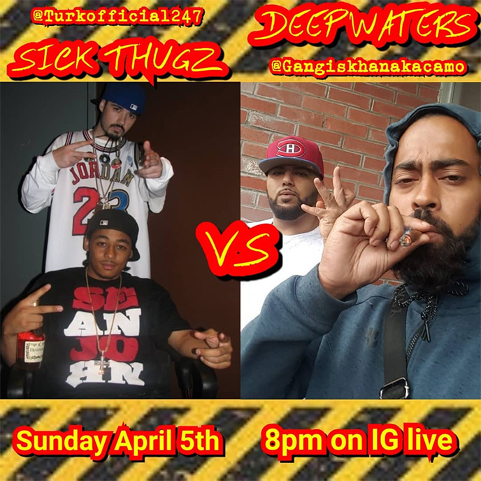 April 5: Deepwaters and Sick Thugz to square off on IG Live battle