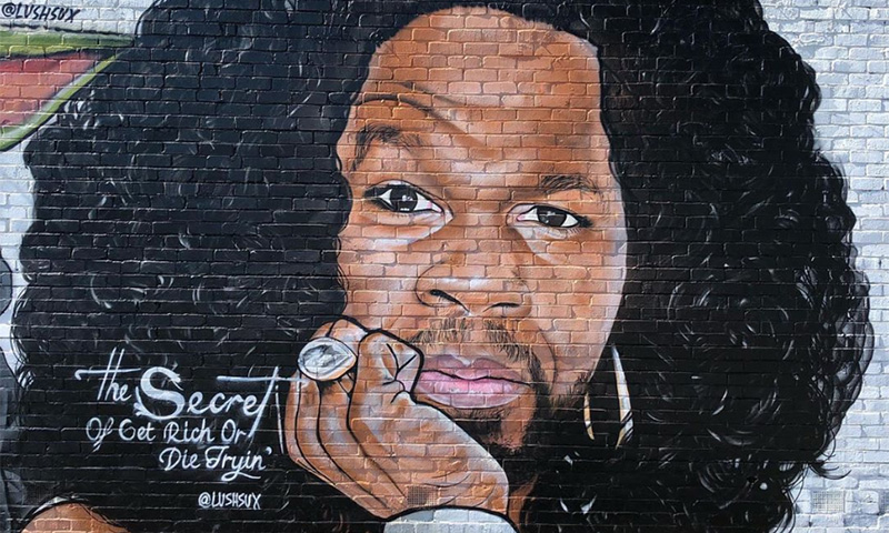 The 50 Cent Paintings: Shade from artist Lushsux or strategic campaign?