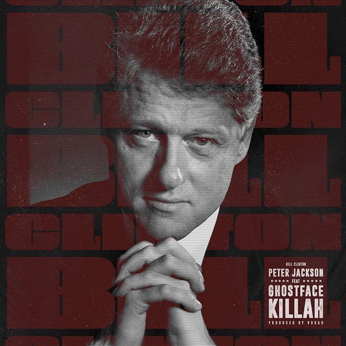 Artwork for the new Peter Jackson single Bill Clinton
