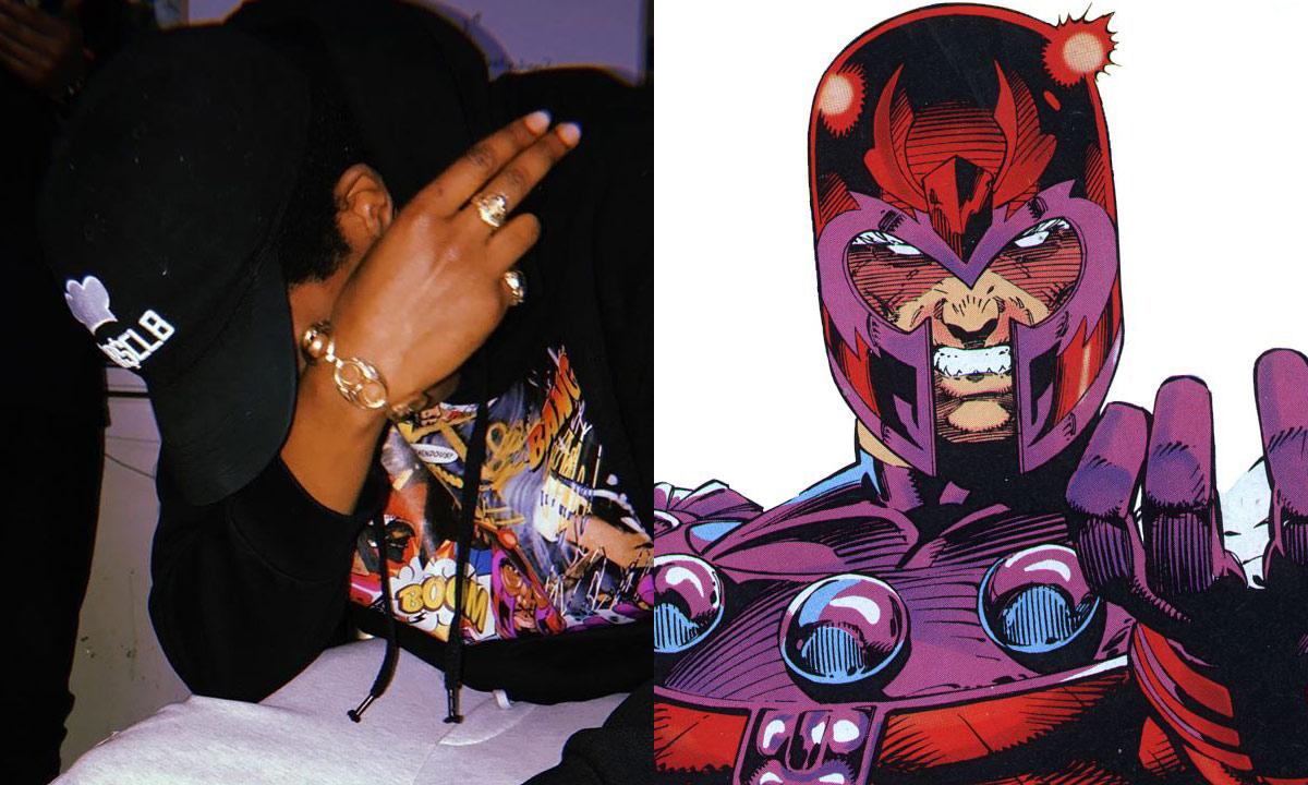Raz Fresco and comic book character Magneto