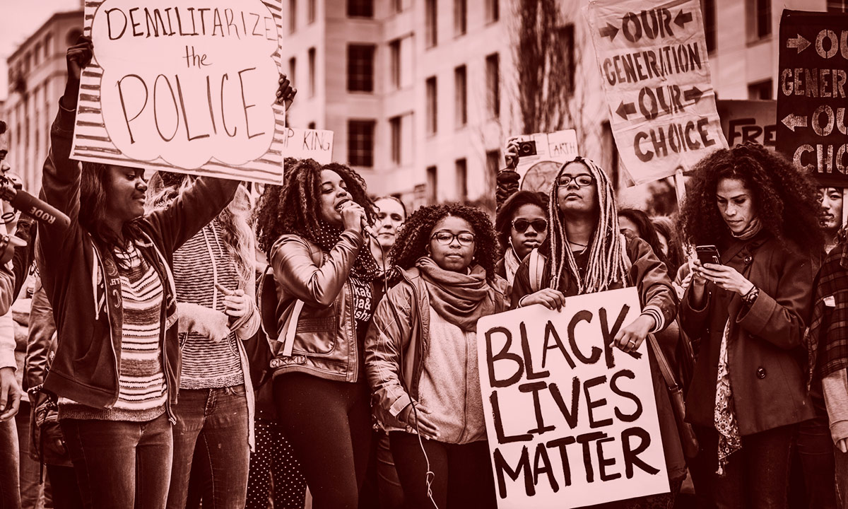 A Black Lives Matter protest (Photo: Johnny Silvercloud)