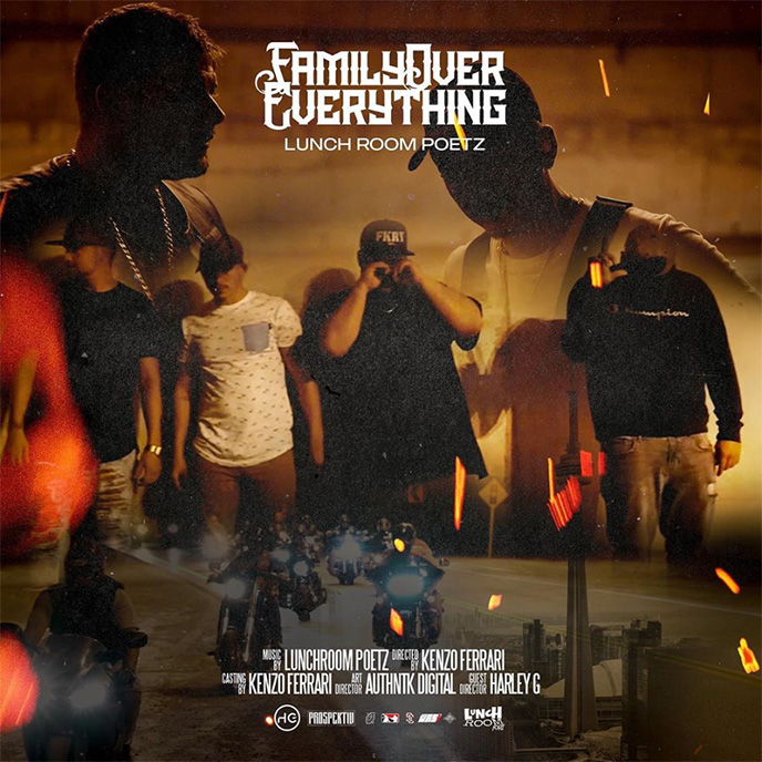 Lunch Room Poetz preview album debut with Family Over Everything video