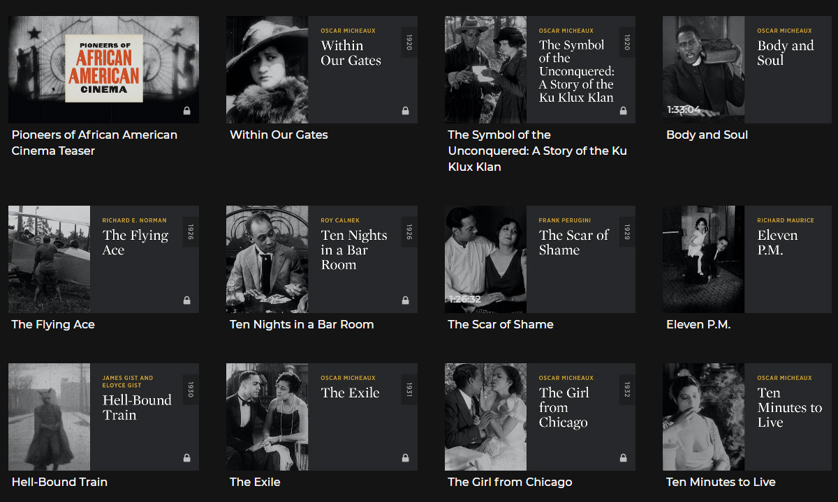 African American cinema on Criterion Collection
