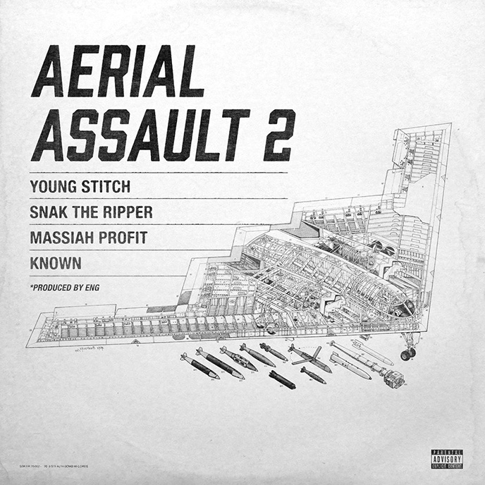 Snak The Ripper releases Aerial Assault 2 featuring Massiah, Young Stitch and KNOWN.