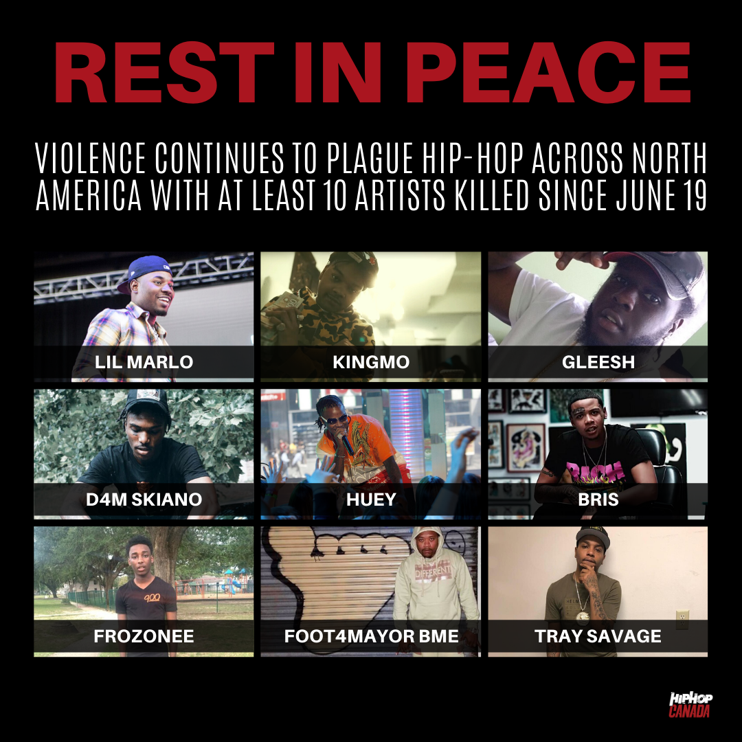 At least 10 rappers have been killed by gun violence since June 19