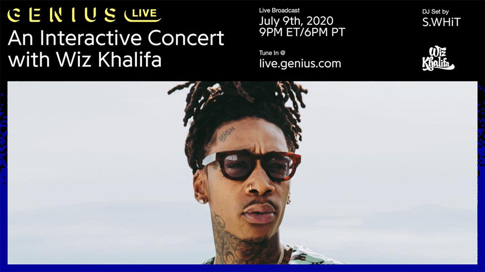 Promo for Wiz Khalifa on Genius Live