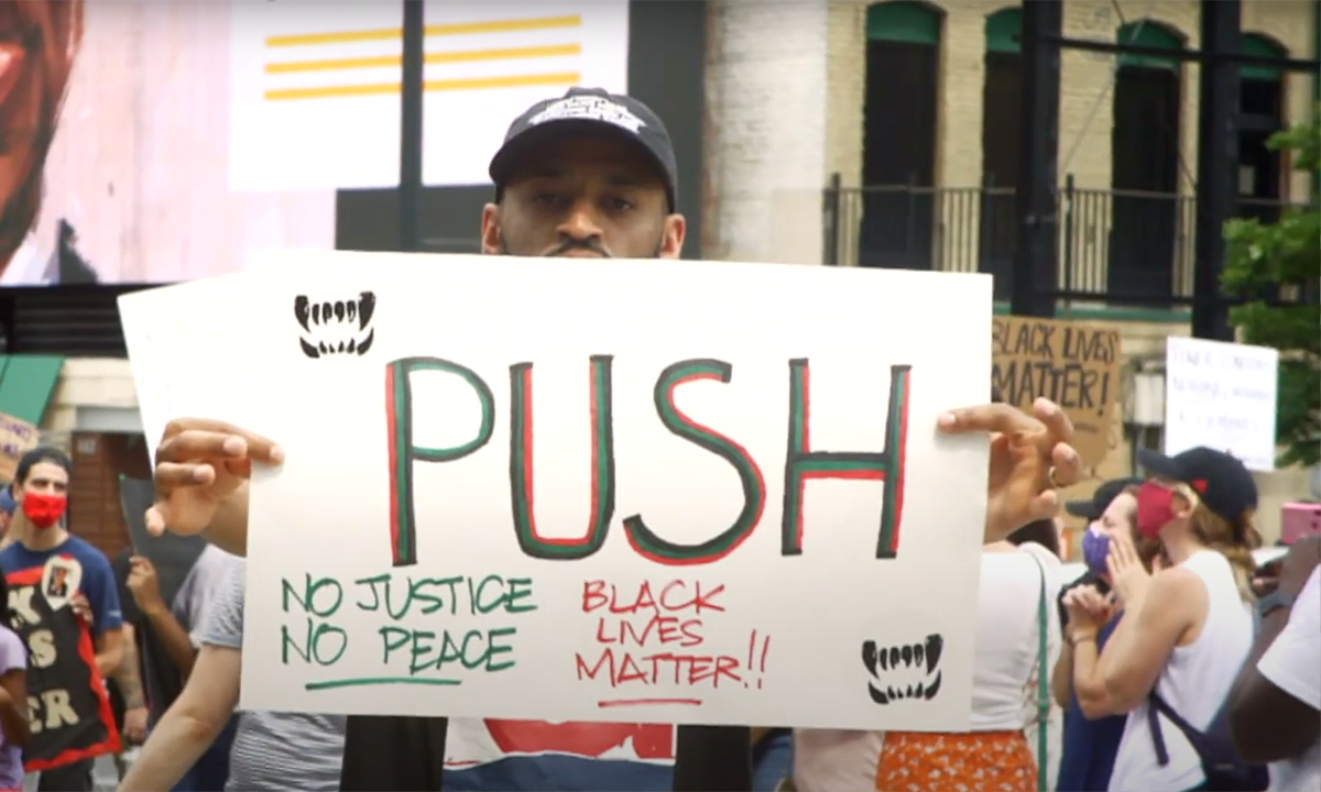 Ultra Beast head to Black Lives Matter protest for A-F-R-O-assisted PUSH video