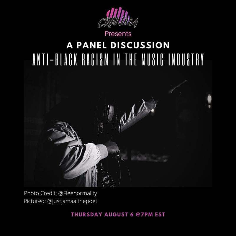 Tonight: Cranium to host Anti-Black Racism in the Music Industry panel