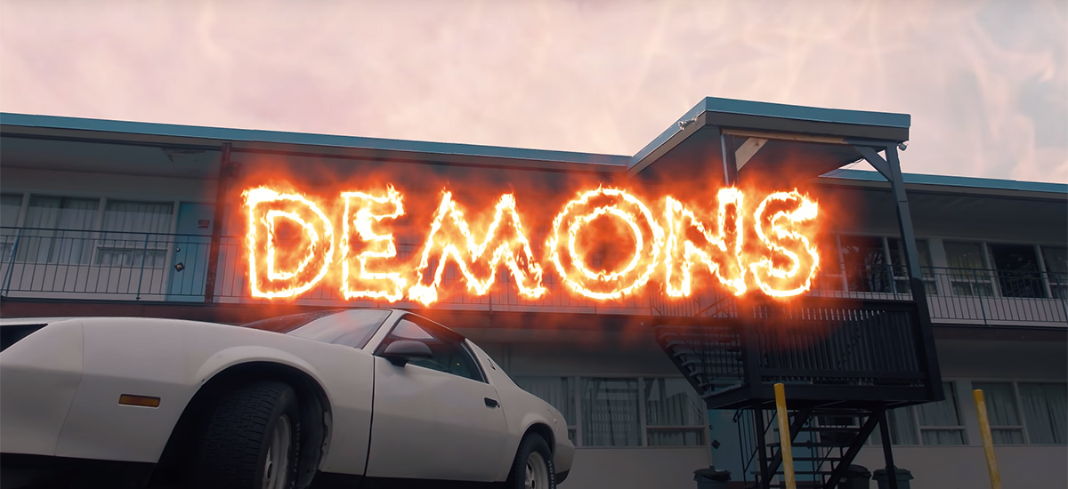 Scene from the Demons video