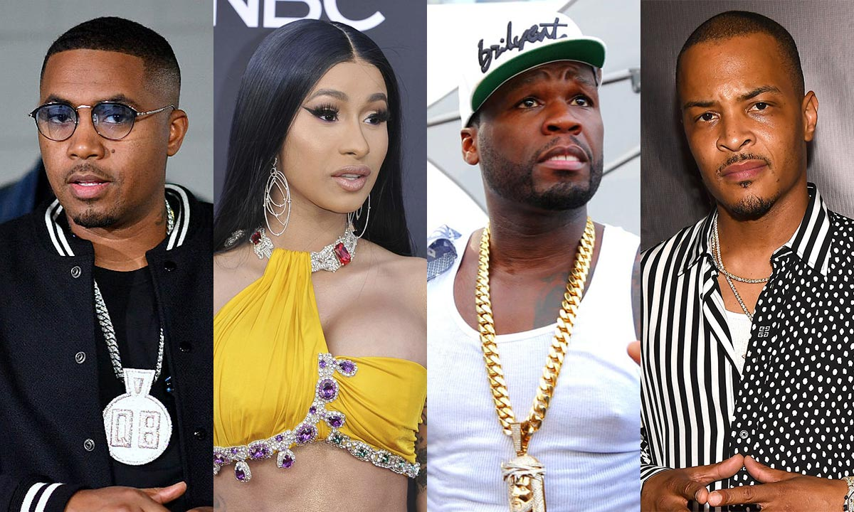 Nas, Cardi B, 50 Cent and T.I.