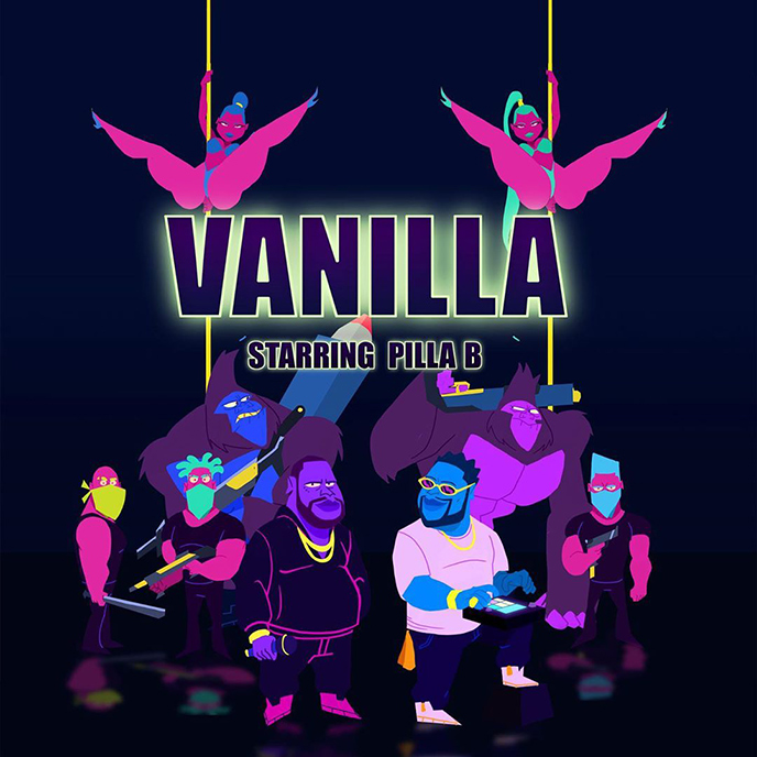 Artwork for the Vanilla single and video by Pilla B