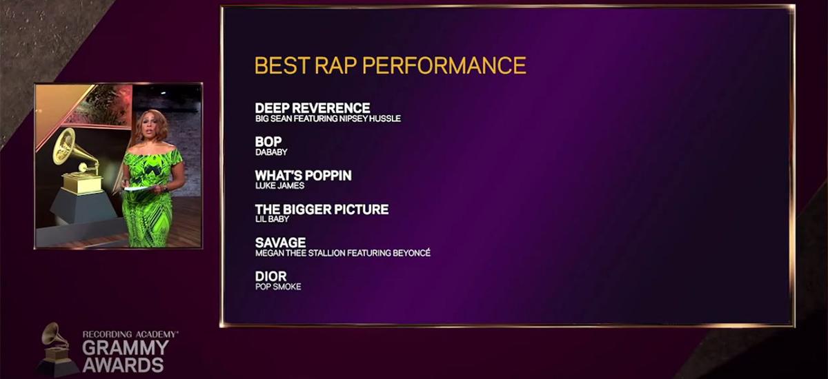 Grammy Awards - Jack Harlow / Luke James error