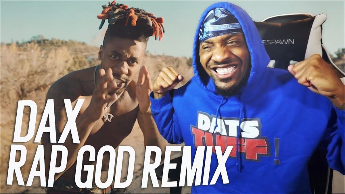YouTubers react to Dax's new Rap God (Remix) video