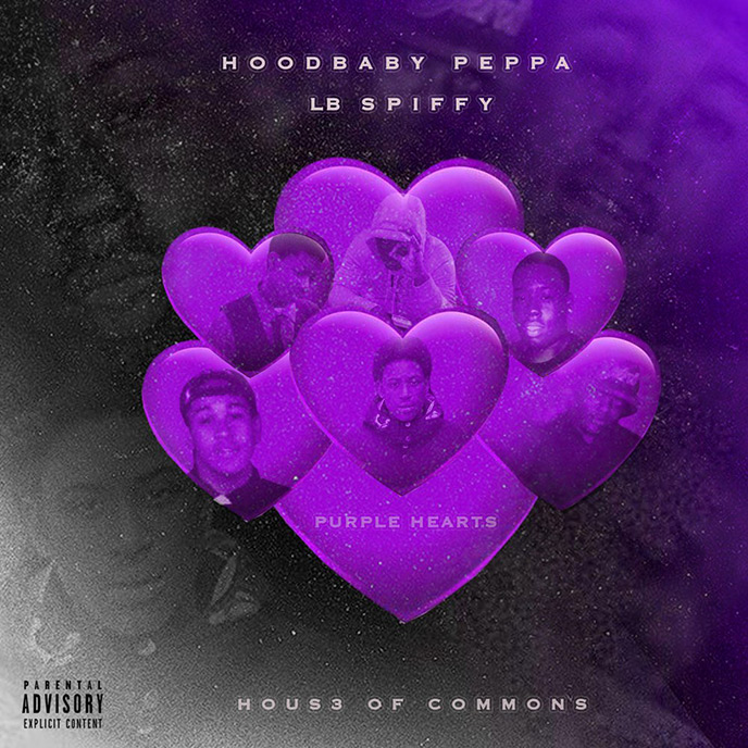 Artwork for Purple Hearts by Hoodbaby Peppa and LB Spiffy